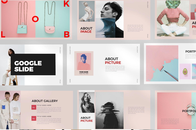 时尚潮流品牌多用途模板设计PPT幻灯片模板下载Look Book Google Slide插图
