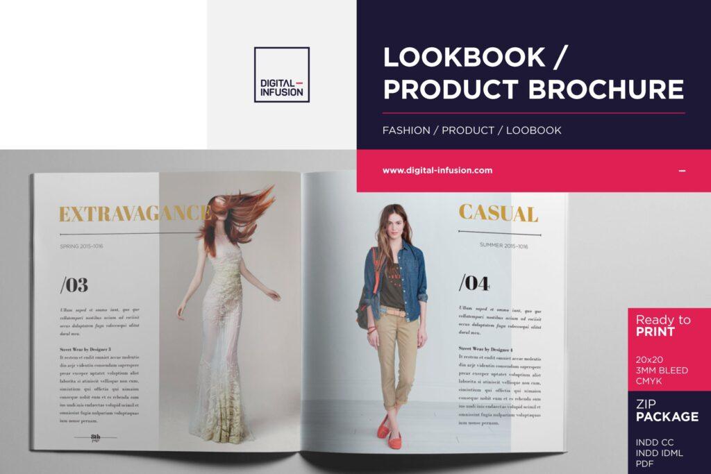 香水珠宝产品简介/目录画册模板Lookbook Product Catalog插图