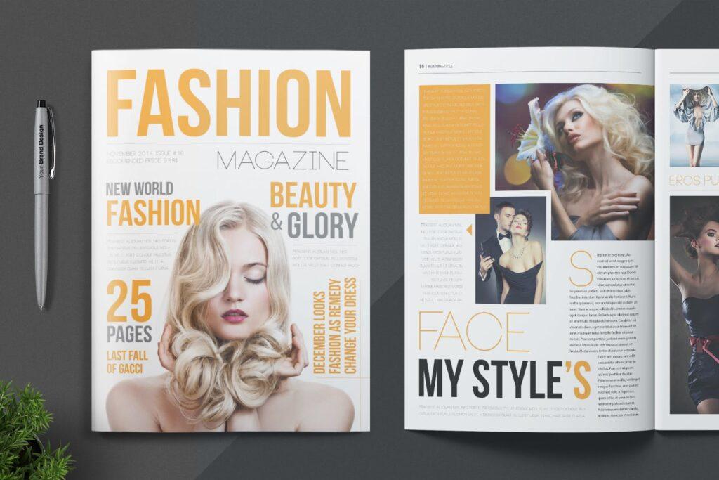 写真集/采访/画廊主题杂志模板下载Magazine Template 6N4PTQJ插图