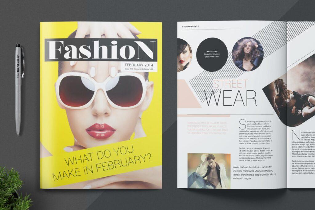 时尚潮流/画廊主题杂志模板Magazine Template SLCJBWR插图