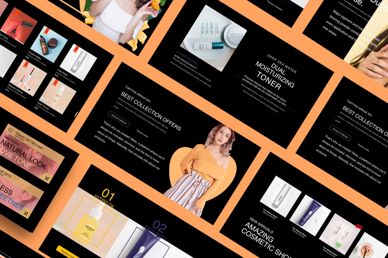 高端化妆品新品发布会PPT幻灯片模板Make Over Google Slide插图