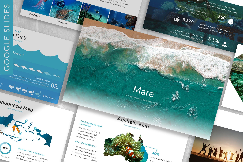 海洋主题宣讲PPT幻灯片模版Mare Ocean Google Slides Template插图
