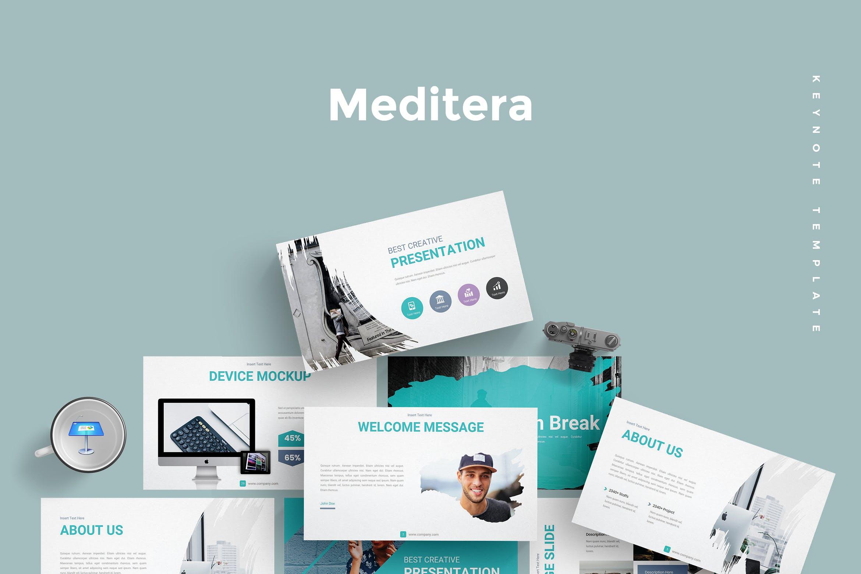 企业历史发展回顾主题演讲PPT幻灯片模板Meditera Keynote Template插图