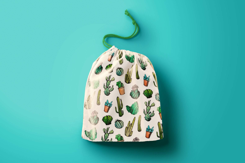 墨西哥仙人掌图案黑白包装图案装饰图案下载Mexican Cactus Patterns插图
