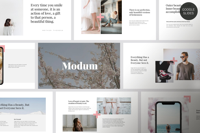年度报告汇报PPT幻灯片模板Modum Clean Minimal Google Slides插图