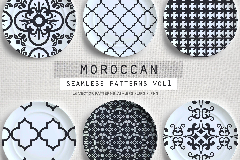15个摩洛哥风格无缝矢量模式重复排列组合Moroccan Style seamless vector patterns vol1插图