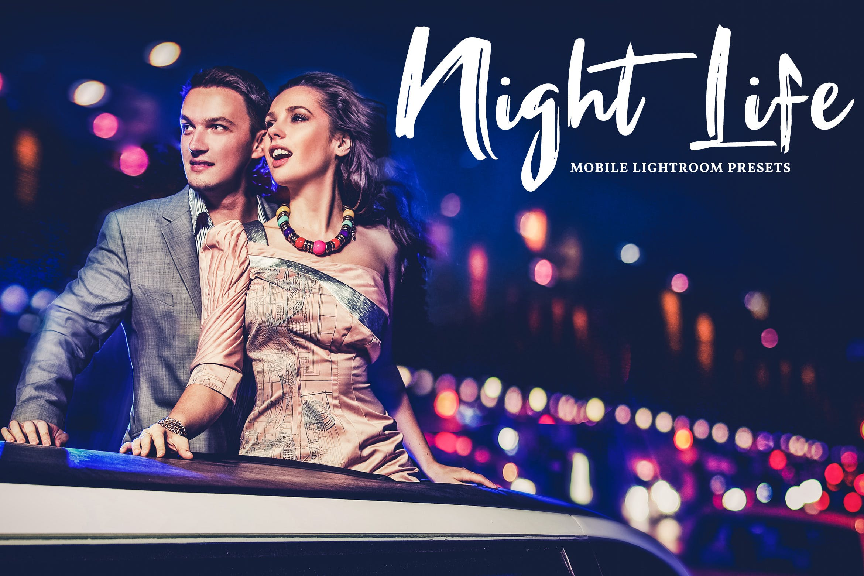 夜总会派对摄影照片效果处理LR预设Night Life Mobile Desktop Lightroom Presets插图
