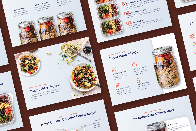 西餐料理品牌新菜品介绍PPT幻灯片模板Nutritious PowerPoint Template插图