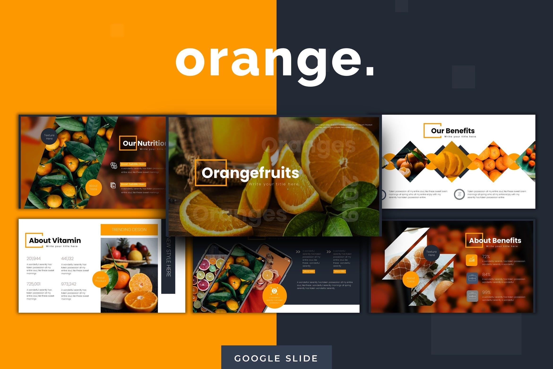 多用途演示模板宣讲主题演讲PPT幻灯片模板Oranges Google Slides Template插图