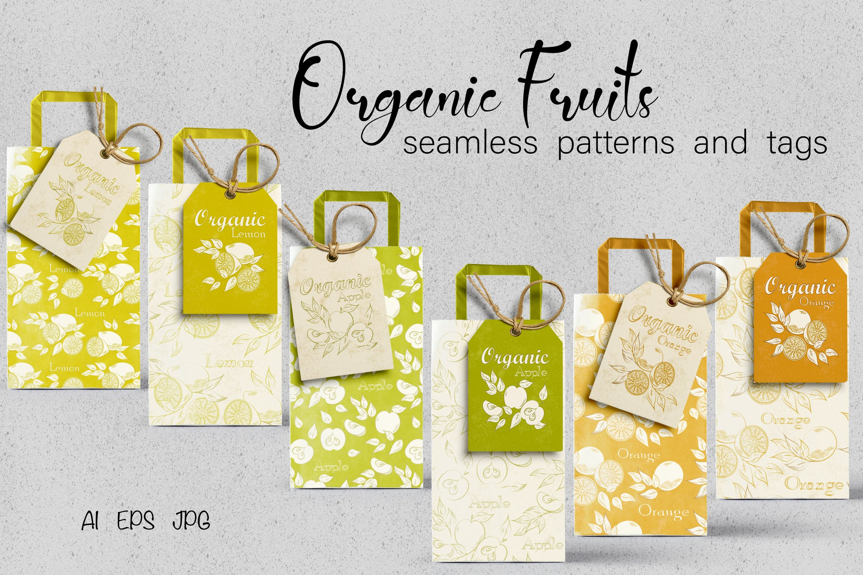有机水果元素包装袋元素下载Organic Fruits插图
