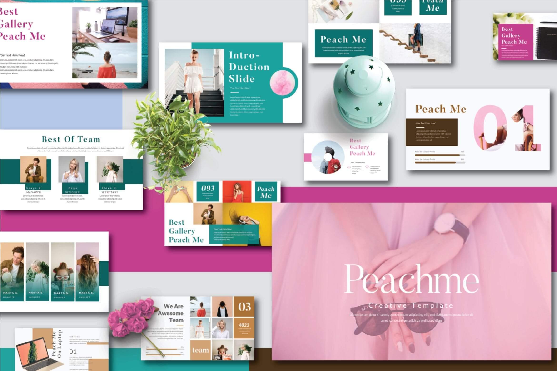 糖果色现代风格PPT幻灯片模板下载Peachme Creative Powerpoint Template插图