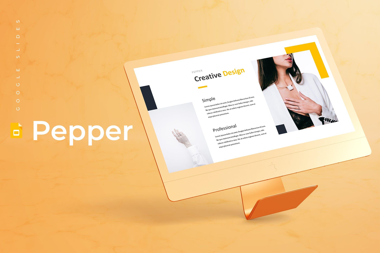 多用途企业业务演示PPT幻灯片模板下载Pepper Google Slides Template插图