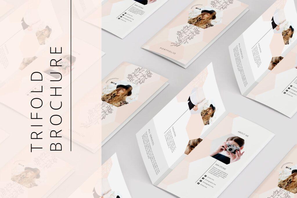 企业多功能组合小册子模板素材Portfolio Trifold Flyer插图