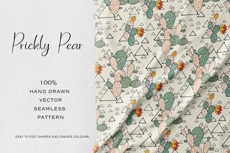 矢量创意仙人掌装饰图案纹理素材Prickly Pear插图