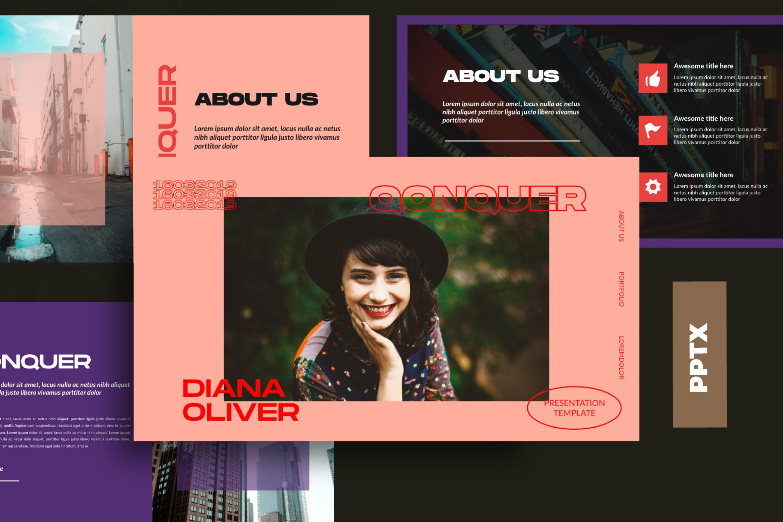 企业上市宣讲PPT幻灯片模板Qonquer URBAN Powerpoint插图