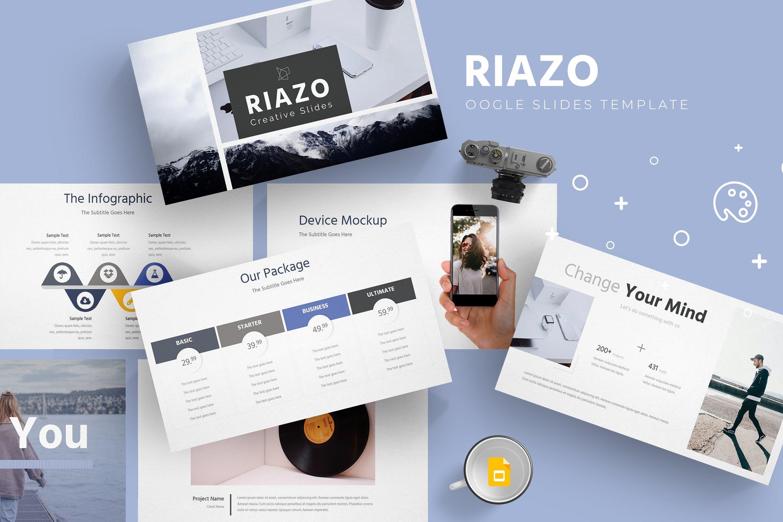 企业多用途演示文稿模板Riazo Google Slide Template插图