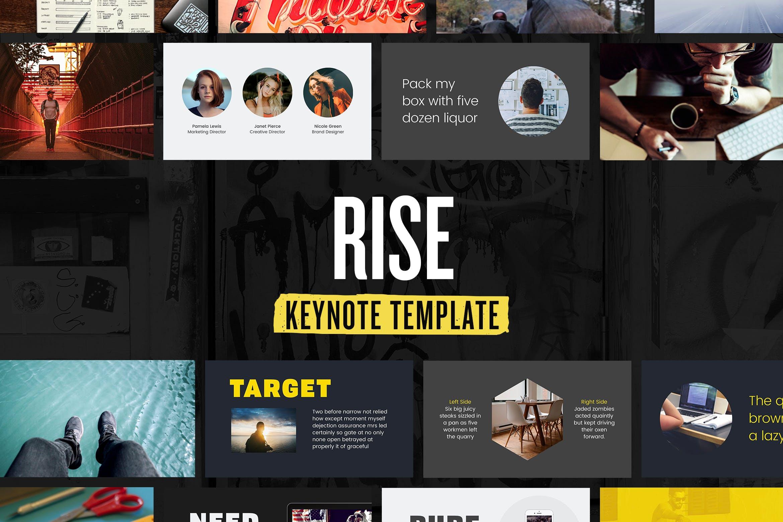 多行业主题演讲PPT幻灯片模板下载Rise Keynote Presentation Template插图