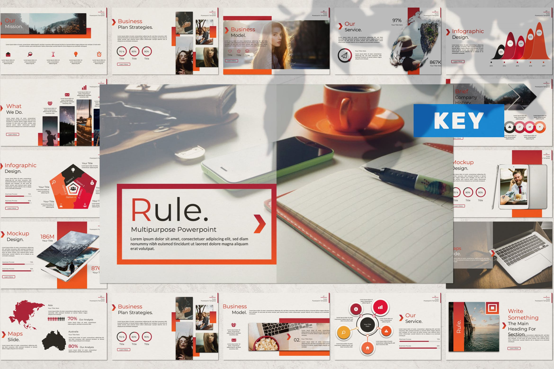 企业市场策划/企业年报汇报PPT幻灯片模板Rule Creative Keynote插图
