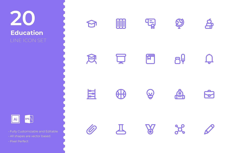 创意电子商务&购物图标集源文件下载SRTP Education Icon Set插图