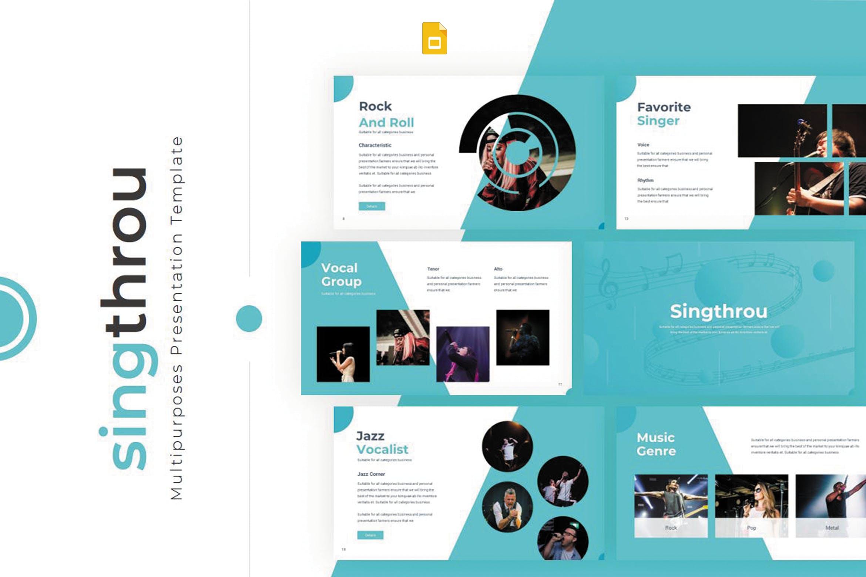 演唱会活动宣讲及活动策划案例PP幻灯片模板Singthrou Google Slides Template插图