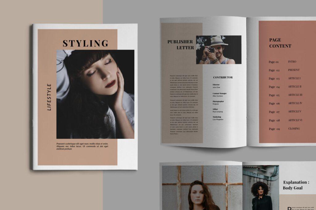 设计师工作室内设计目录/产品目录画册模板Styling Fashioned Brochure插图