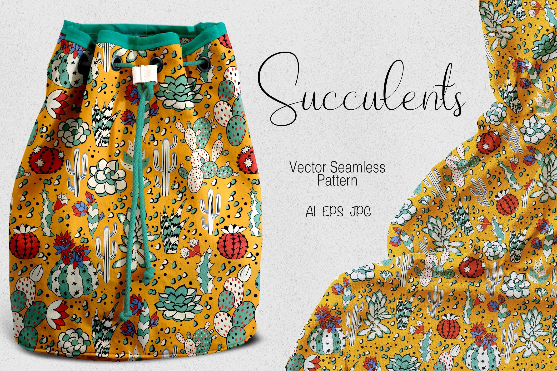 多肉植物装饰元素布艺纹理素材下载Succulents 3W4BTU9插图