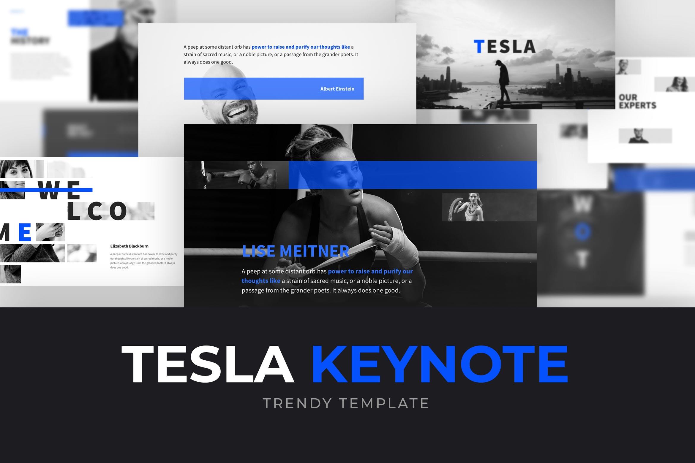 瑜伽健身行业活动策划幻灯片模板TESLA Keynote Template插图