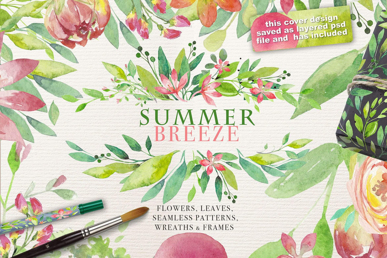 夏季素材鲜花素材装饰排列合集THE SUMMER BREEZE插图