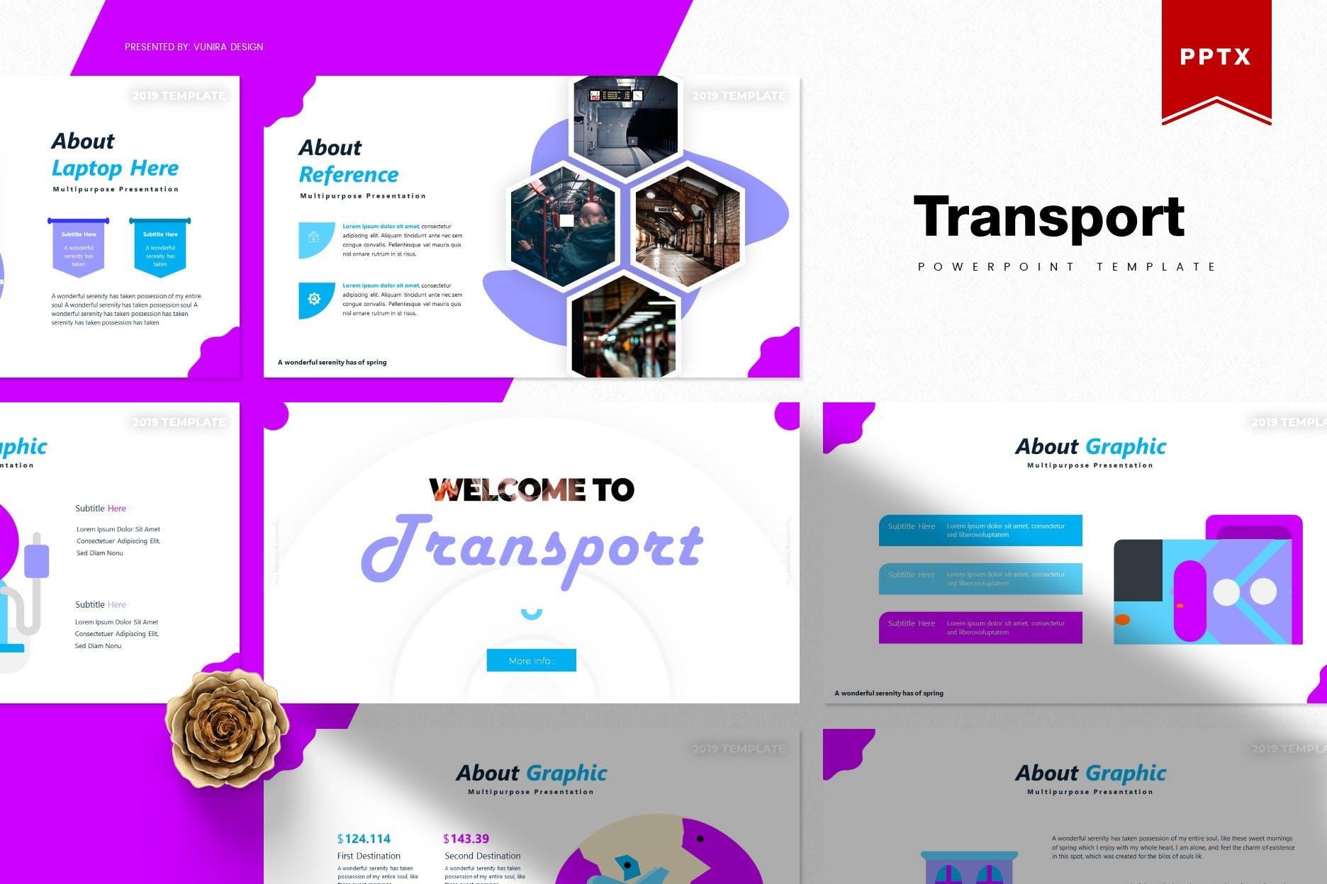 互联网融资企业路演宣讲PPT幻灯片模板Transport Powerpoint Template插图