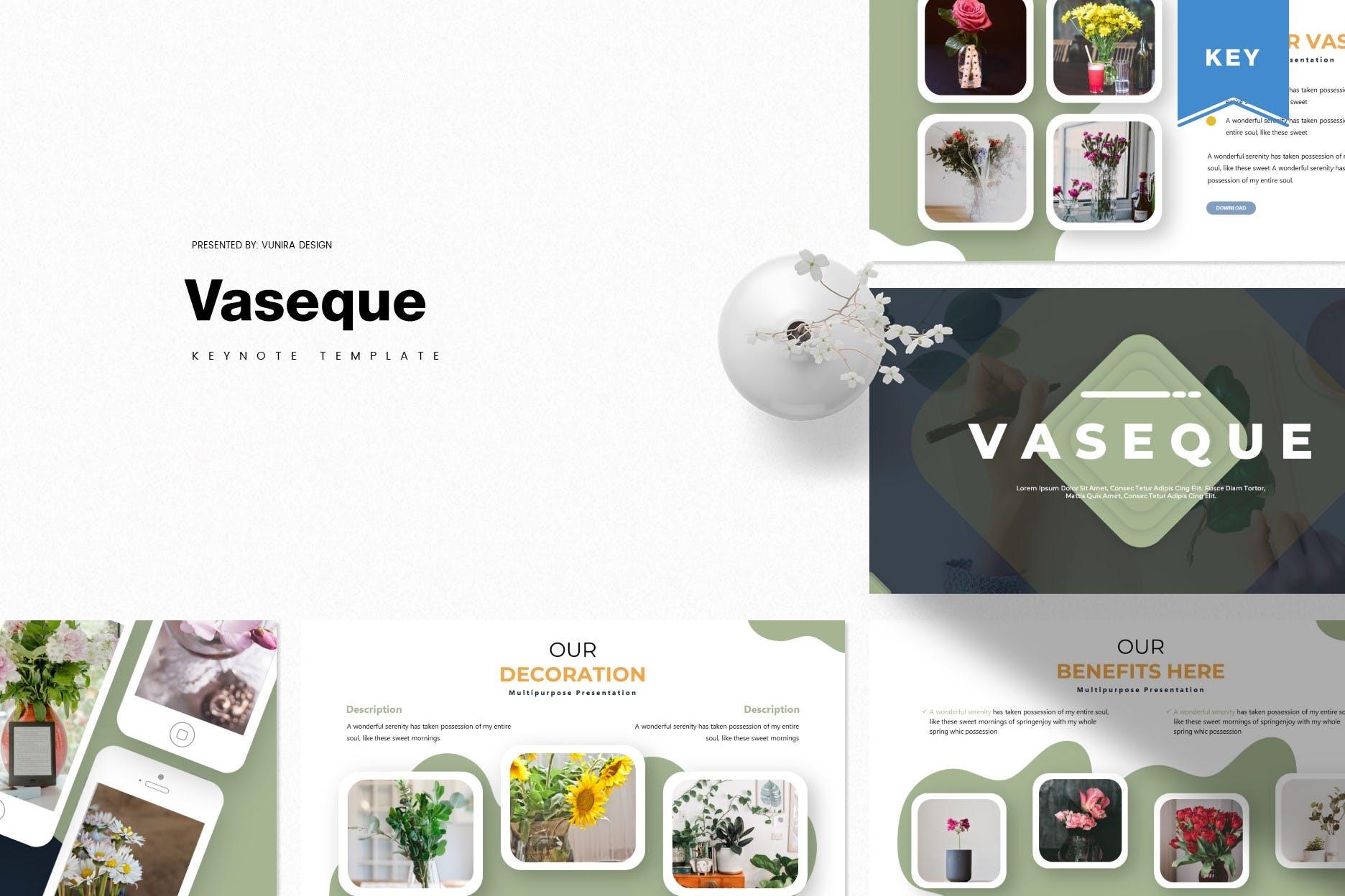 商务营销策划幻灯片模板下载Vaseque Keynote Template插图