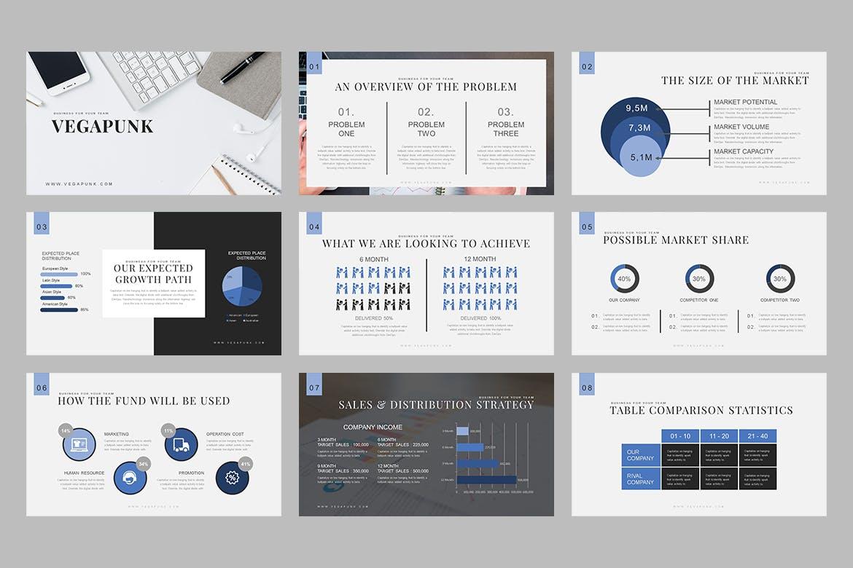 建筑商务创意主题演讲PPT幻灯片模板下载Vegapunk Pitch Deck Keynote Template插图
