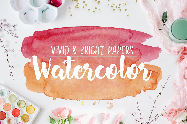 生动和明亮的水彩纹理Vivid & Bright Watercolor Textures插图