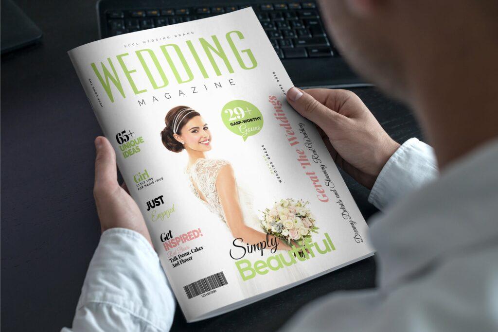 文艺精致版式环保主题婚礼杂志模板Wedding Magazine Template插图