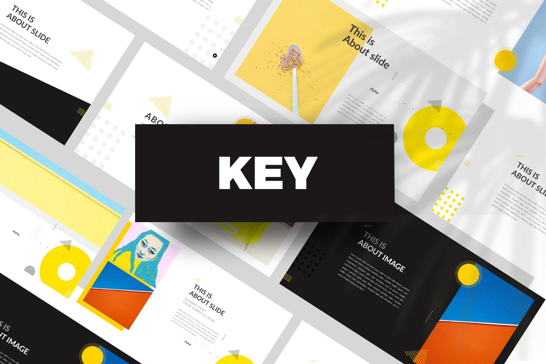 欧美风素材模板演示文稿模板Yellow Creative Keynote插图