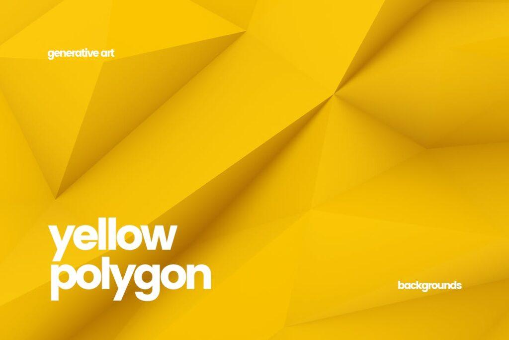 抽象简约几何构成背景高清图片下载Yellow Polygon Backgrounds插图