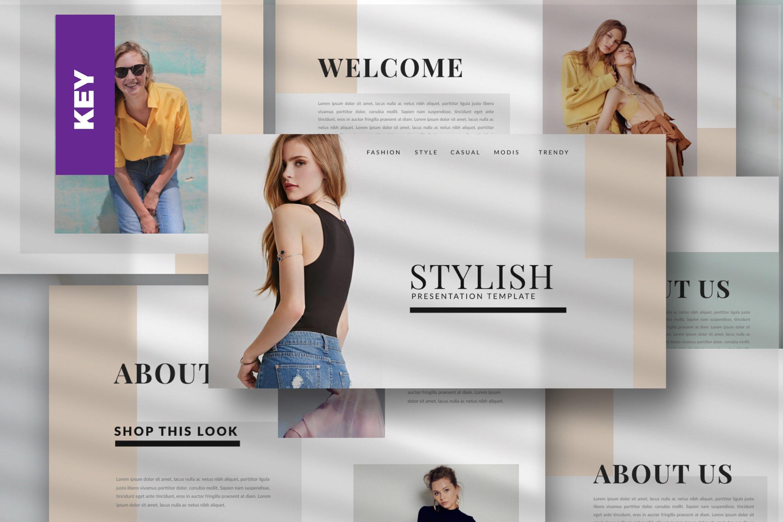 时尚潮流品牌新品展示PPT幻灯片模板lentitude Fashion Keynote插图