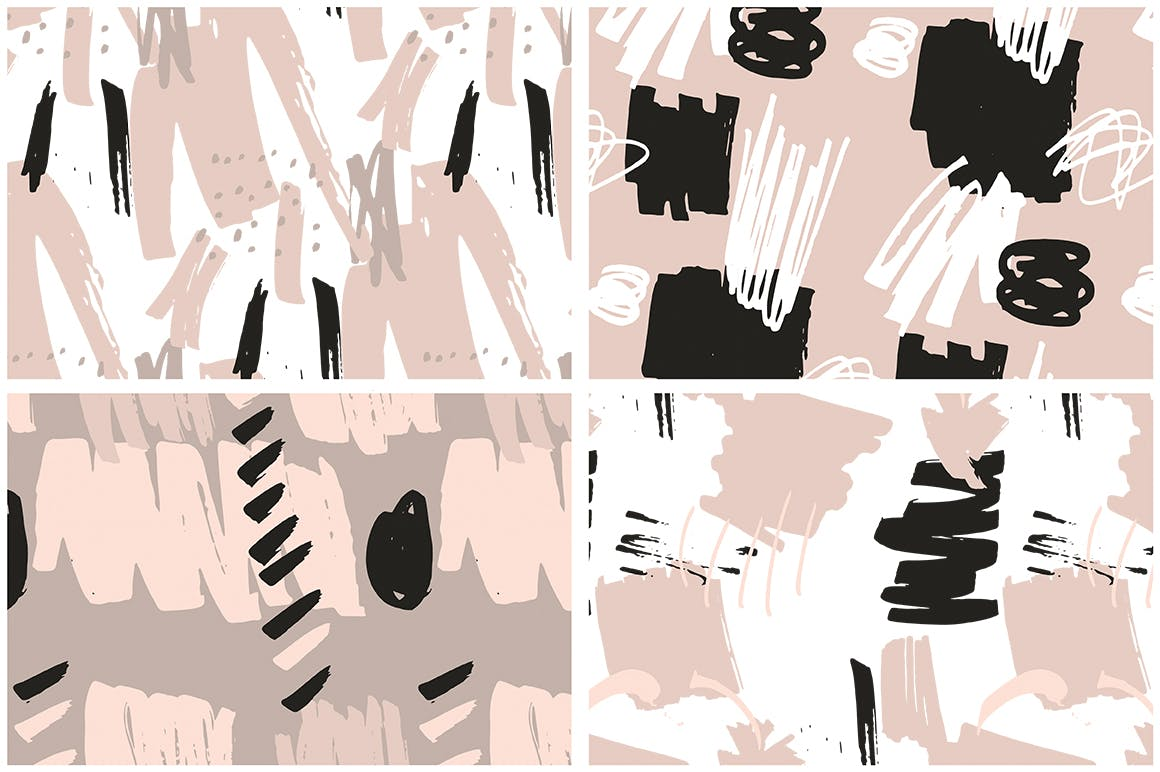 腮红粉红色系列装饰图案花纹素材Blush Crush Patterns Instagram Templates插图(9)
