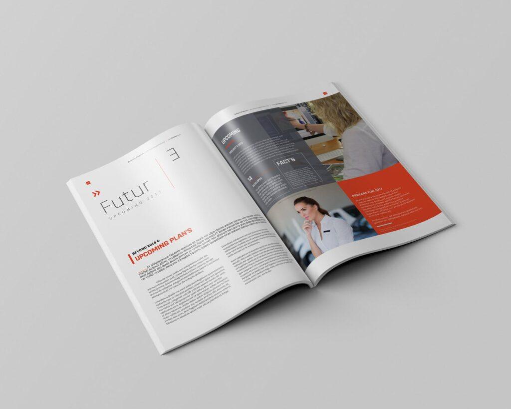 精致企业服务类/产品画册杂志模板Brochure WBYXNN插图(7)
