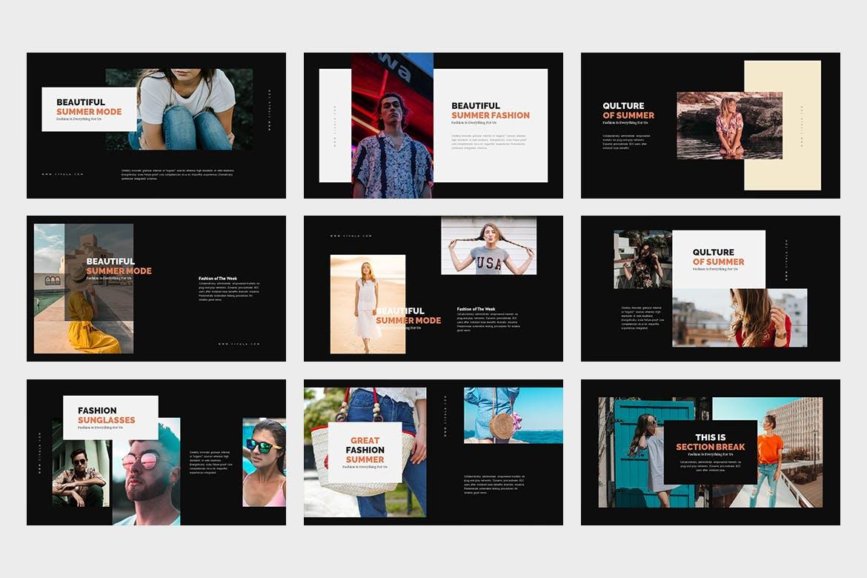 多用途多行业主题演讲系列模板幻灯片下载Civala Summer Fashion Keynote插图(9)