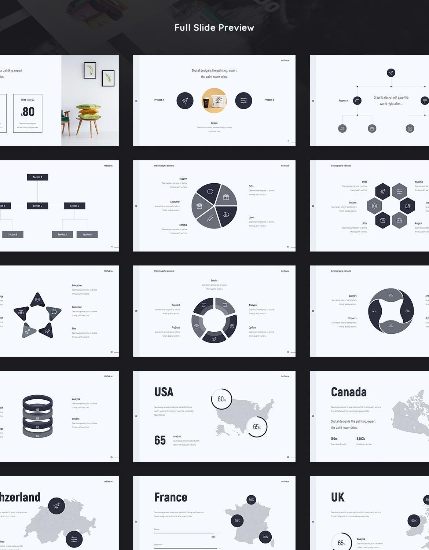 时尚潮流品牌电子商务幻灯片模板Fabros Creative Presentation Template (KEY)插图(9)