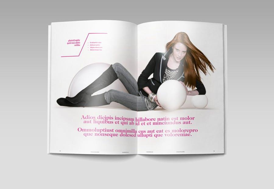 模特经纪或时装展览杂志模板素材Fashion Magazine R8C6UK插图(9)
