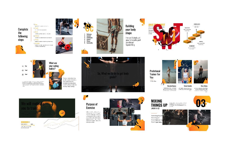 瑜伽健身主题宣讲PPT幻灯片模板GYM Google Slide插图(8)