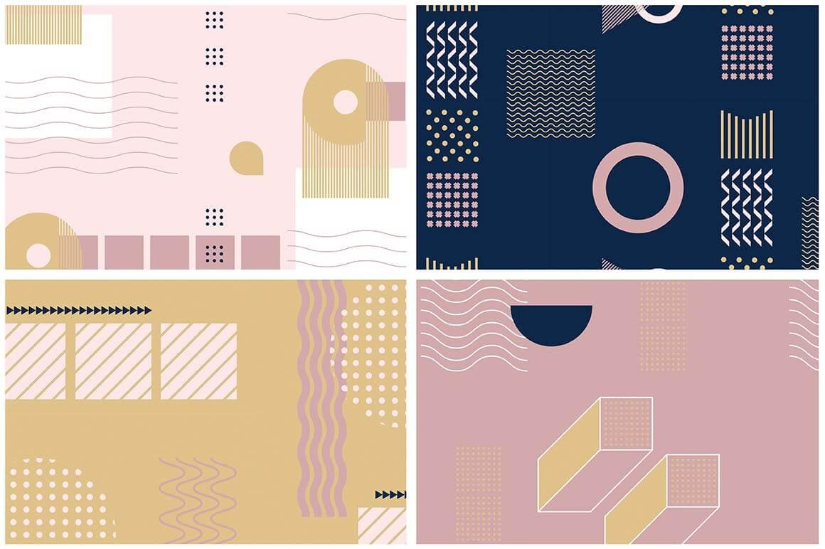 企业品牌服装图形几何风格装饰图案素材Girlboss Patterns插图(9)