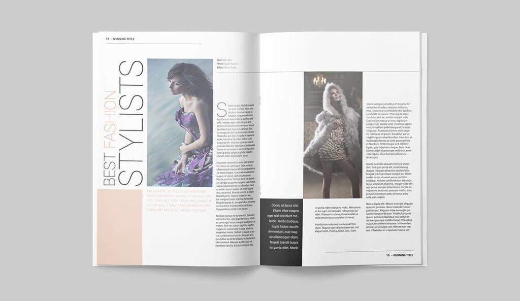 时尚潮流/画廊主题杂志模板Magazine Template SLCJBWR插图(9)