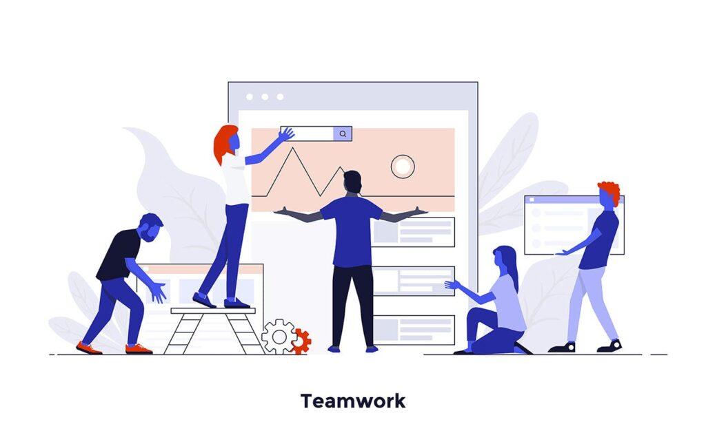 现代扁平化的设计理念和经营理念网站插图Modern Flat Design People And Business Concepts Uz9yxc插图(9)
