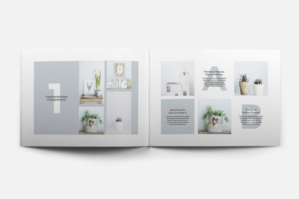 简约绿植居家生活类画册模板Rigel Brochure Template插图(9)