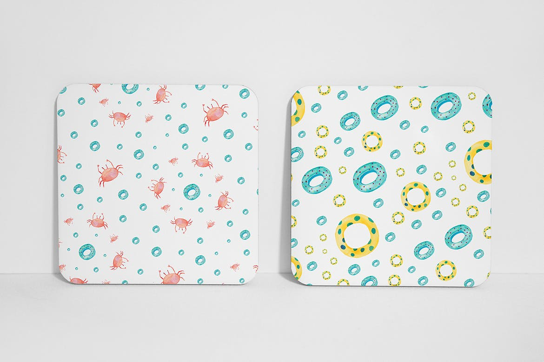 手绘水彩夏日元素多用途图素材下载Watercolor Summer Patterns插图(9)