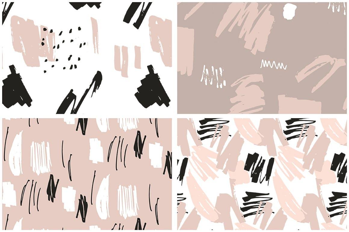 腮红粉红色系列装饰图案花纹素材Blush Crush Patterns Instagram Templates插图(10)