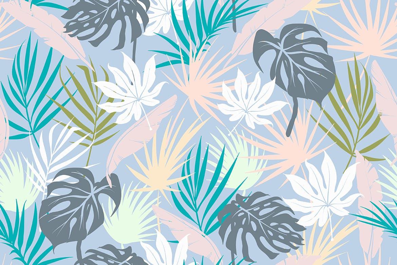 抽象概念植物天堂花装饰图案(大合集)Colorful Tropical Foliar Seamless Patterns插图(9)