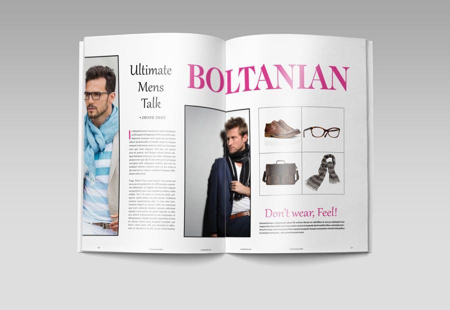 模特经纪或时装展览杂志模板素材Fashion Magazine R8C6UK插图(10)